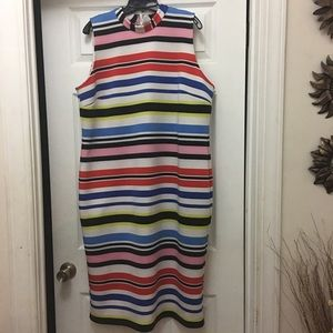 Eloquii striped scuba dress